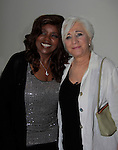 """Gloria Gaynor sang """"I Will Survive"""" poses with Olympia Dukakis (Search For Tomorrow) at Loukoumi & Friends Concert held on June 23, 2014 at the Scholastic Theatre, New York City, New York. Proceeds will benefit The Loukoumi Make a Difference Foundation. Foundation first project will be the Make A Difference with Loukoumi television special airing on FOX stations Oct 19-20. (Photo by Sue Coflin/Max Photos)"""