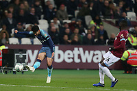 Son Heung-Min of Tottenham Hotspur gets in a shot during West Ham United vs Tottenham Hotspur, Caraboa Cup Football at The London Stadium on 31st October 2018