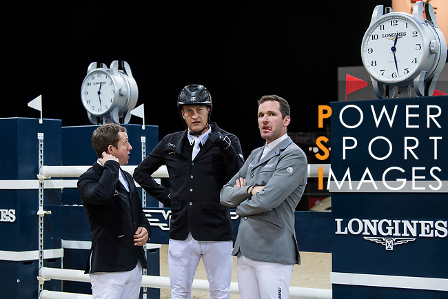 Walk the Course prior to the Masters One DBS during the Longines Masters of Hong Kong at AsiaWorld-Expo on 11 February 2018, in Hong Kong, Hong Kong. Photo by Diego Gonzalez / Power Sport Images