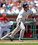 17 June 2006: Melky Cabrera, outfielder for the New York Yankees, in action against the Washington Nationals at RFK Stadium, in Washington, DC. The Nationals overcame a seven run deficit to win 11-9 in the second game of the interleague series...Mandatory Photo Credit: Ed Wolfstein Photo...