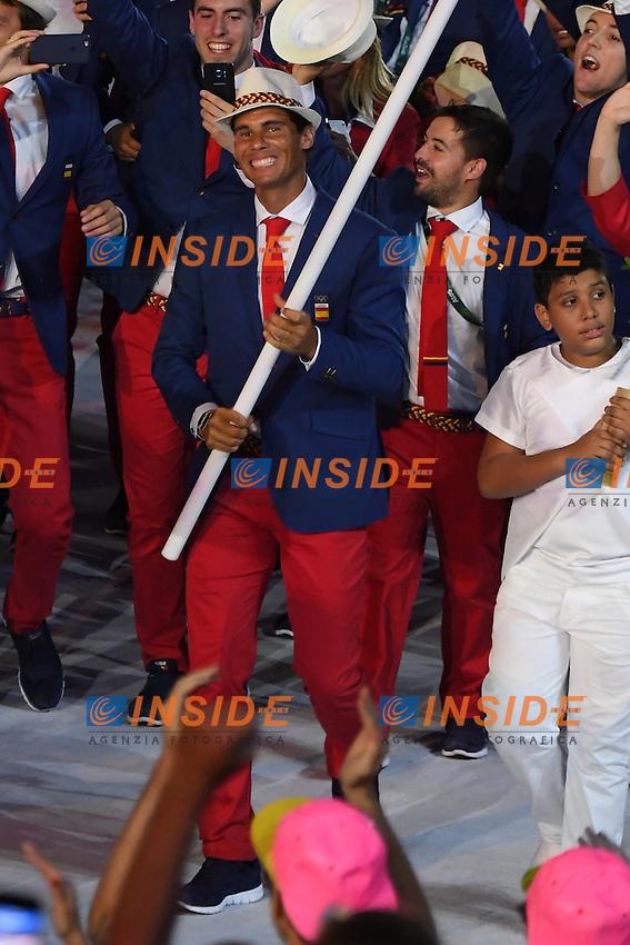 Rafael Nadal Spain <br /> Rio de Janeiro 05-08-2016 Maracana Stadium <br /> Olympic Games Opening Ceremony <br /> Cerimonia di Apertura Olimpiadi Rio 2016 <br /> Foto Andrea Staccioli/Deepbluemedia/Insidefoto