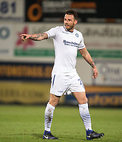 Max Muller of Wycombe Wanderers during the The Checkatrade Trophy  Quarter Final match between Mansfield Town and Wycombe Wanderers at the One Call Stadium, Mansfield, England on 24 January 2017. Photo by Andy Rowland.