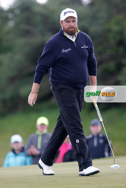 Shane LOWRY (IRL) on the 9th green during round 3 of the 2015 Dubai Duty Free Irish Open hosted by the Rory Foundation, Royal County Down Golf Club, Newcastle Co Down, Northern Ireland. 30/05/2015<br /> Picture TJ Caffrey, www.golffile.ie