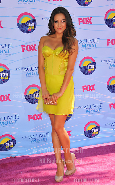 Shay Mitchell at the 2012 Teen Choice Awards at the Gibson Amphitheatre, Universal City..July 23, 2012  Los Angeles, CA.Picture: Paul Smith / Featureflash