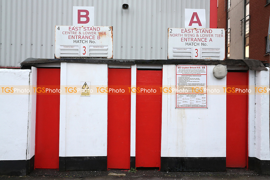 General view of an East Stand turnstile block ahead of Leyton Orient vs Morecambe, Sky Bet EFL League 2 Football at the Matchroom Stadium on 7th February 2017
