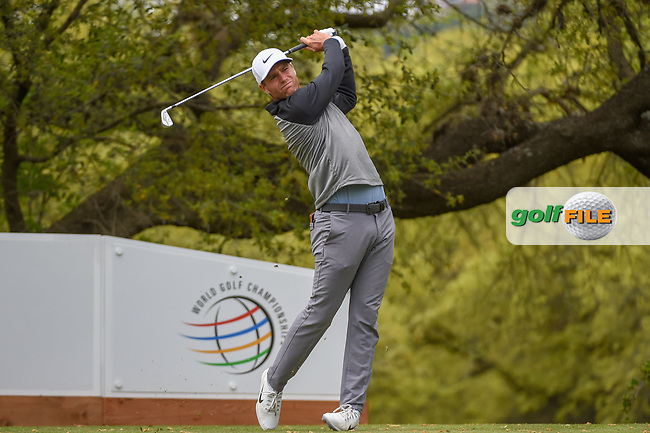 Lucas Bjerregaard (DEN) watches his tee shot on 10 during day 4 of the WGC Dell Match Play, at the Austin Country Club, Austin, Texas, USA. 3/30/2019.<br /> Picture: Golffile | Ken Murray<br /> <br /> <br /> All photo usage must carry mandatory copyright credit (© Golffile | Ken Murray)