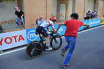 Simone Consonni (ITA) UAE Team Emirates on the San Luca climb during Stage 1 of the 2019 Giro d'Italia, an individual time trial running 8km from Bologna to the Sanctuary of San Luca, Bologna, Italy. 11th May 2019.<br /> Picture: Eoin Clarke | Cyclefile<br /> <br /> All photos usage must carry mandatory copyright credit (© Cyclefile | Eoin Clarke)