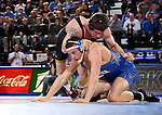 BROOKINGS, SD - DECEMBER 2:  Sammy Brooks from Iowa controls Martin Muller from SDSU in their 184 pound match Friday night at Frost Arena in Brookings, SD.(Photo by Dave Eggen/Inertia)