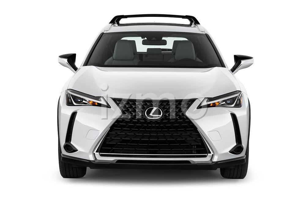 Car photography straight front view of a 2019 Lexus UX 200 5 Door SUV Front View