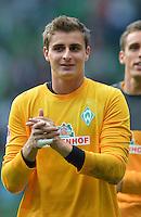 FUSSBALL   1. BUNDESLIGA   SAISON 2012/2013   2. Spieltag SV Werder Bremen - Hamburger SV                     01.09.2012         Sebastian Mielitz (SV Werder Bremen) nach dem Abpfiff zufrieden