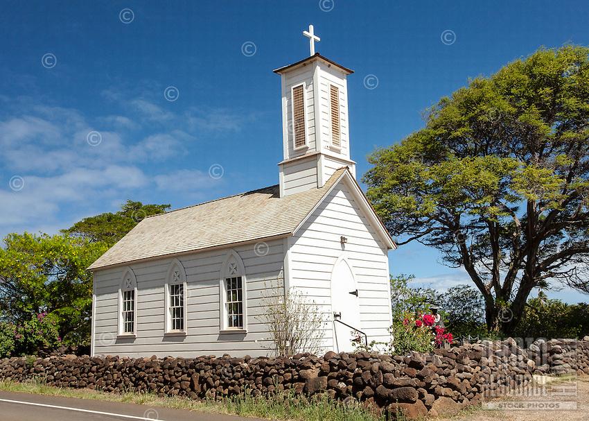 St. Joseph's Church, built by Father Damien in 1876, Kamalo, Moloka'i