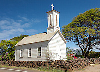 St. Joseph's Church, built by Father Damien in 1876, Kamalo, Moloka'i