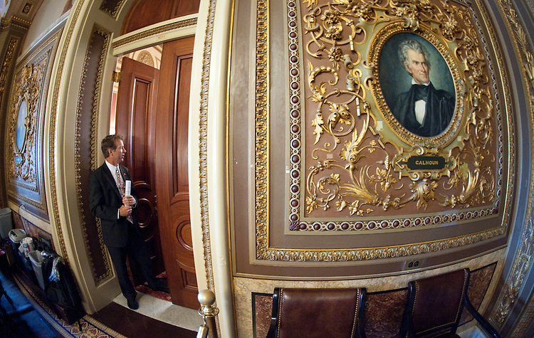 UNITED STATES - JULY 6: Sen. Rand Paul, R-Ky., leaves the weekly Senate Republicans' policy lunch on Wednesday, July 6, 2011. (Photo By Bill Clark/Roll Call)