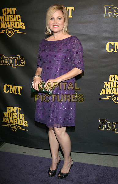"MAUREEN McCORMICK.CMT and ""PEOPLE"" Official 2008 CMT Music Awards After-Party held at City Hall, Nashville, Tennessee, USA..April 14th, 2008.full length purple dress .CAP/ADM/RR.©Randi Radcliff/AdMedia/Capital Pictures."
