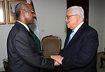 Palestinian President Mahmoud Abbas meets with Ethiopian Foreign Minister Seyoum Mesfin in the West Bank City of Ramallah on July 11, 2009. Photo by Thaer Ganaim