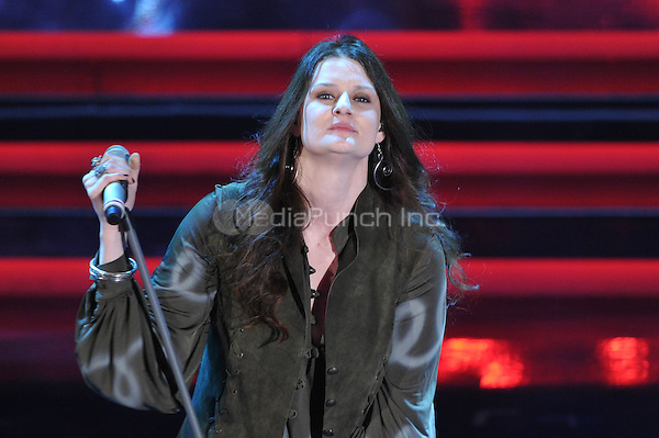 Irene Fornaciari at the 62nd Annual Sanremo Festival of Music in Sanremo, Italy. February 14, 2012. ***NO ITALY***
