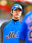 6 June 2009: New York Mets' pitcher Ken Takahashi prepares to warm up prior to a game against the Washington Nationals at Nationals Park in Washington, DC. The Mets fell to the Nationals 7-1 as Nats' starting pitcher John Lannan tossed his first career complete-game win. Mandatory Credit: Ed Wolfstein Photo