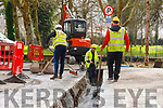 Kerry County Council workers replacing pipes at Kerry County Museum