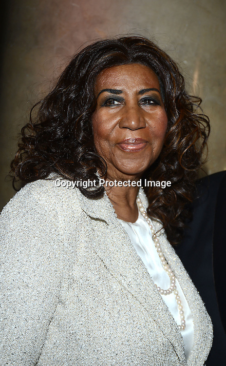 Aretha Franklin attends the Fashion Group International's Night of Stars Gala on October 22, 2013 at Cipriani Wall Street in New York City.