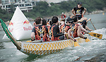 Red Bull Dragon Roar - Recce Shoot. Dragon boat teams take part in testing the water course for a recce shoot on 19 May 2013, in Hong Kong. Photo by Andy Jones / The Power of Sport Images