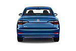 Straight rear view of a 2019 Volkswagen Jetta SEL 4 Door Sedan stock images