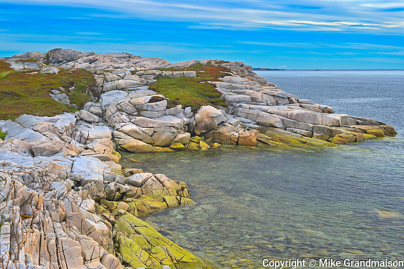Rocky shoreline along the Atlantic Ocean<br />