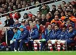 Arsenal's Arsene Wenger looks on dejected<br /> <br /> Champions League - Arsenal  vs AS Monaco  - Emirates Stadium - England - 25th February 2015 - Picture David Klein/Sportimage