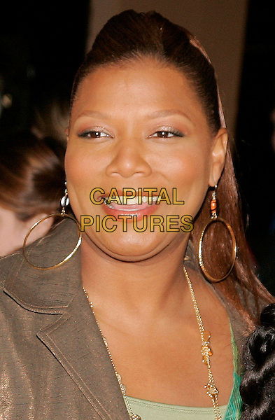 "QUEEN LATIFAH .The New York Premiere of ""Ice Age: The Meltdown""  at Ziegfeld Theatre, New York, NY, USA..March 28th, 2006.Photo: Jackson Lee/Admedia/Capital Pictures.Ref: JL/ADM.2 two headshot portrait hoop earrings .www.capitalpictures.com.sales@capitalpictures.com.© Capital Pictures."