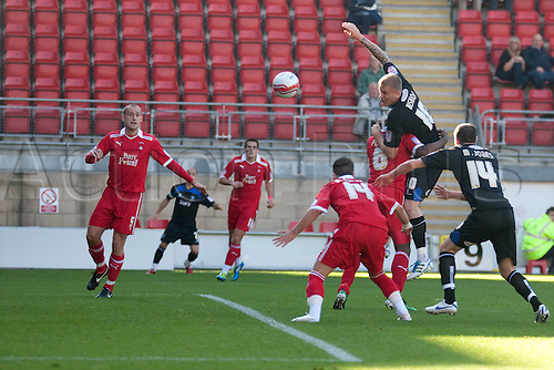 15.10.2011, London, England.  Andy Bishop Bury's striker  in action during the NPower league one football match between Leyton Orient and Bury played at the Matchroom Stadium, Brisbane Road, London. Mandatory credit: ActionPlus