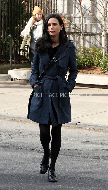 WWW.ACEPIXS.COM....February 6 2013, New York City....Actress Jennifer Connelly on the set of the new movie 'A Winter's Tale' on February 6 2013 in New York City....By Line: Zelig Shaul/ACE Pictures......ACE Pictures, Inc...tel: 646 769 0430..Email: info@acepixs.com..www.acepixs.com