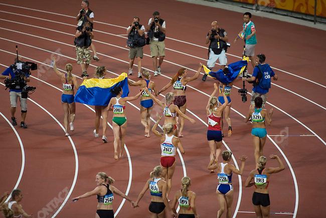 Women's Heptathlon 800m final, National Stadium, Summer Olympics, Beijing, China, August 16, 2008