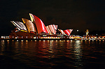 Sydney's festival of light: Vivid Sydney feature the lighting of the iconic Sydney Opera House sails.