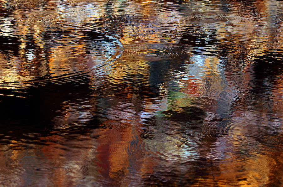 Deep Silent and colourful reflections of the cliffs surrounding John Hayes Rock Hole in the East Mac Donnell Ranges.<br /> Sitting quietly watching the effect on the water is hypnotic and beautiful.