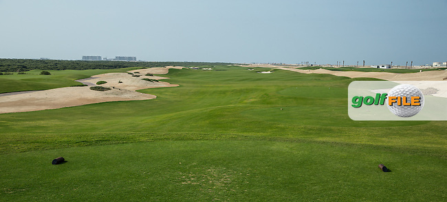 View of the 12th at Al Zorah Golf Club, Dubai, United Arab Emirates.  26/01/2016. Picture: Golffile | David Lloyd<br /> <br /> All photos usage must carry mandatory copyright credit (&copy; Golffile | David Lloyd)