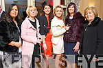 Karen Hayles (Monavalley) Kay Brennan (Castleisland) Alison Jones (Kielduff) Aileen Twomey (Ballymac) Oonagh Scanlon (Ballymac) and Marie Crean (Alderwood Road, Tralee) pictured at the Hats and Heels fundraiser event on Saturday night in Ballygarry House Hotel & Spa, Tralee.