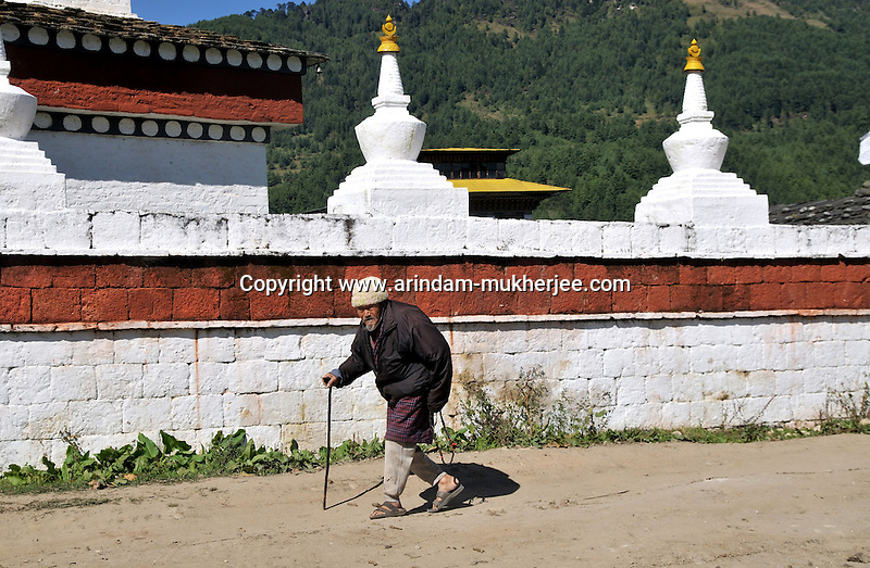 A old man from Bumthang, Bhutan. Arindam Mukherjee..
