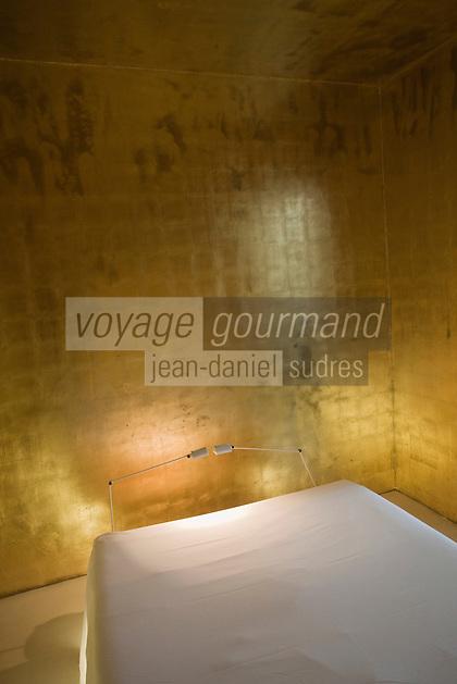Europe/France/Provence-Alpes-Côtes d'Azur/06/Alpes-Maritimes/Alpes-Maritimes/Nice: Hotel Windsor. Des artistes ont décoré les chambres de cet hôtel. Ainsi Claudio Parmigianni a t-il fait peindre d'or les murs du n° 57