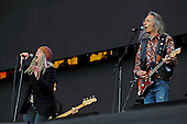 PATTI SMITH - and guitarist Lenny Kaye - performing live at the Barclaycard British Summer Time in Hyde Park London UK - 01 Jul 2016.  Photo credit: Zaine Lewis/IconicPix