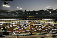 01/22/11 Los Angeles, CA: View of 1st ever AMA Supercross held at Dodger Stadium.