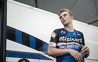 The 'James Dean' of the peloton; Marcel Kittel (DEU/Etixx-QuickStep) during warming down after the TTT<br /> <br /> 12th Eneco Tour 2016 (UCI World Tour)<br /> stage 5 (TTT) Sittard-Sittard (20.9km) / The Netherlands