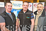 Pictured at the Kerry Homes and Business Expo held in the Killarney Outlet Centre last weekend were Raymond Griffin, Sean Moran and Paddy O'Donovan.......