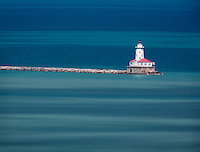 The light house near Grant Park in Chicago, Illinois.