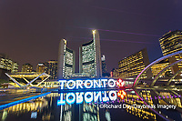 60912-00103 Nathan Phillips Square at night Toronto, ON Canada
