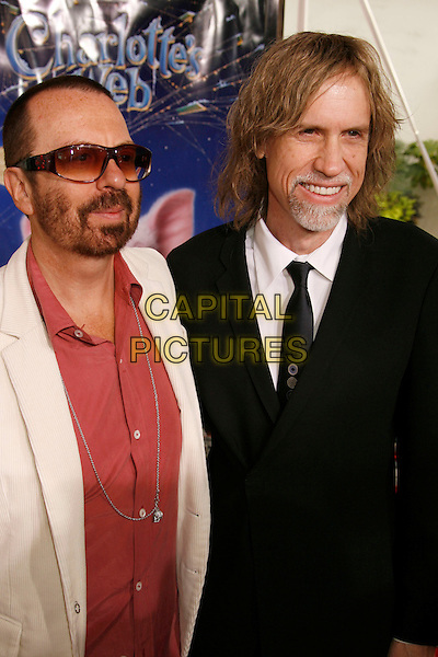 "DAVE STEWART & GLEN BALLARD .Los Angeles Premiere of ""Charlotte's Web"" held at the Arclight Theatre, Hollywood, California, USA..December 10th, 2006.half length black sunglasses shades beard facial hair .CAP/ADM/RE.©Russ Elliot/AdMedia/Capital Pictures"