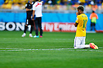 Neymar (BRA),<br /> JUNE 28, 2014 - Football / Soccer :<br /> Brazil's Neymar prays before a penalty shoot out duringt the FIFA World Cup Brazil 2014 Round of 16 match between Brazil 1(3-2)1 Chile at Estadio Mineirao in Belo Horizonte, Brazil. (Photo by D.Nakashima/AFLO)