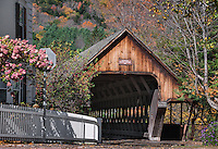 Covered bridge, Middle Bridge,  Woodstock, Vermont, USA