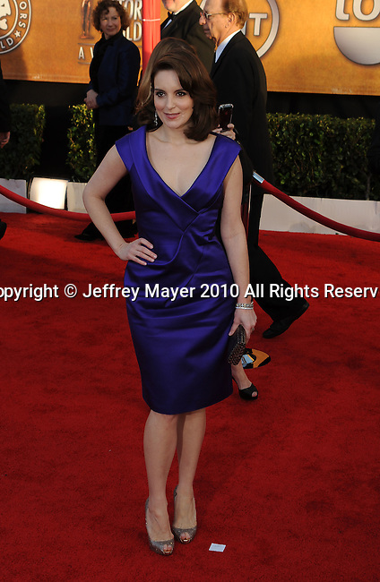 LOS ANGELES, CA. - January 23: Tina Fey arrives at the 16th Annual Screen Actors Guild Awards held at The Shrine Auditorium on January 23, 2010 in Los Angeles, California.