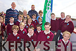 GOING GREEN: Members of the Green School Committee at Glenderry national school which raised its first Green Flag on Friday, with back l-r: Gerard Pierce (Principal), Brid Cotter (Board of Management), Seamus Scanlon (Kerry Footballer), Brid Supple (Teacher).