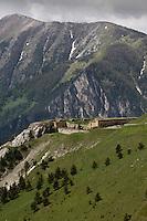 Europe/France/Provence-Alpes-Côtes d'Azur/06/Alpes-Maritimes/Alpes-Maritimes/Arrière Pays Niçois/Env de Tende: Le Fort de Giaure au environs du  Col de Tende, Fortifictions construites par les Italiens aprés 1882