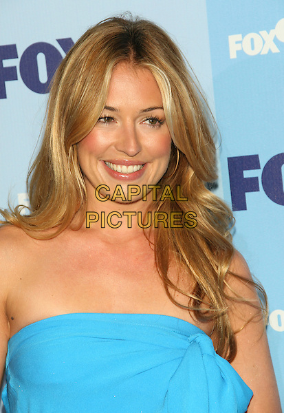 CAT DEELEY.2008 Fox Televison Network Upfront (programming presentation to advertisers) at Wollman Rink in Central Park, New York, NY, USA..May 15th, 2008.headshot portrait blue turquoise strapless .CAP/LNC/TOM.©TOM/LNC/Capital Pictures.
